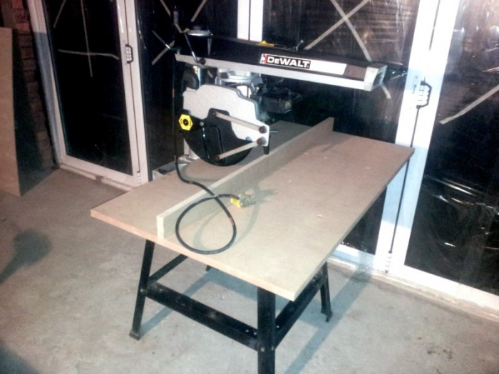 The De Walt radial arm Saw DW-1251 Powershop After some restoration